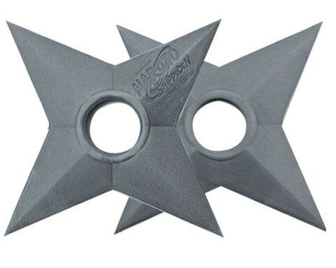 Réplique Netlarp - Naruto Shippuden - Pack 2 Répliques Mousse Shuriken 13 cm