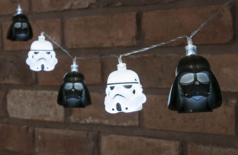 Guirlande - Star Wars - Led Dark Vador et Stormtrooper 3D