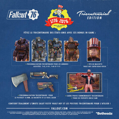 Fallout 76 - Wastelanders - Tricentennial Edition Exclusivité Micromania