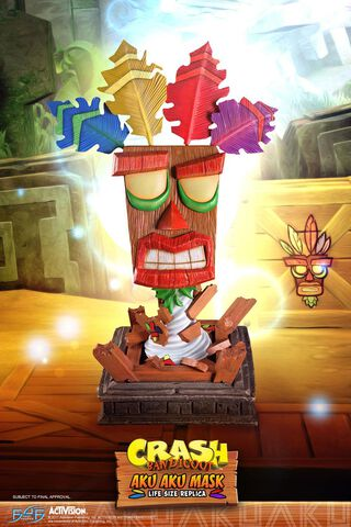 Réplique - Crash Bandicoot - First 4 Figures Masque Aku Aku 65 cm