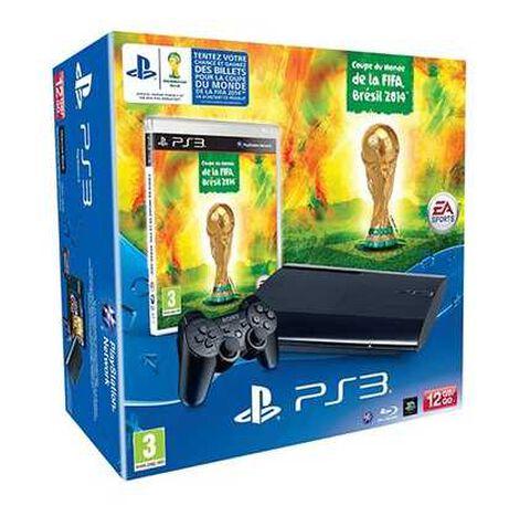 Pack PS3 12 Go Noire + Coupe du Monde de la FIFA, Brésil 2014