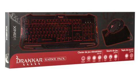 Pack Raider Drakkar Pk30 (souris+clavier+tapis)