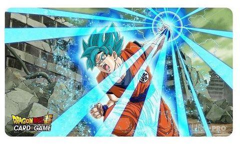 Tapis de jeu - Dragon Ball Super - Goku Super Saiyan Bleu + tube