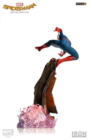 Statuette Iron Studios - Spider-Man Homecoming - Spider-Man Battle Diorama Scene