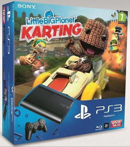 Pack Ps3 Noire 12 Go + Littlebigplanet : Karting