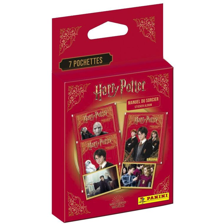 Carte Panini - Harry Potter - Le Manuel Du Sorcier - Blister 7 Pochettes