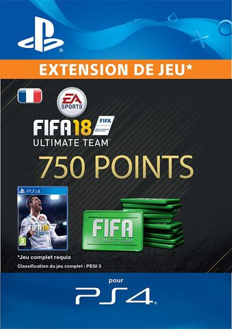 FIFA 18 Ultimate Team 750 Pts Ps4