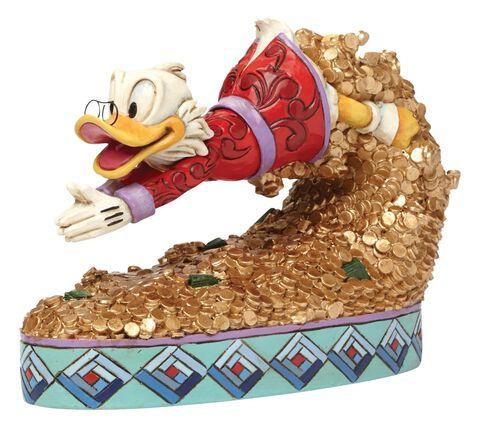 Statuette - Picsou - Disney Traditions Plongeoir En Or