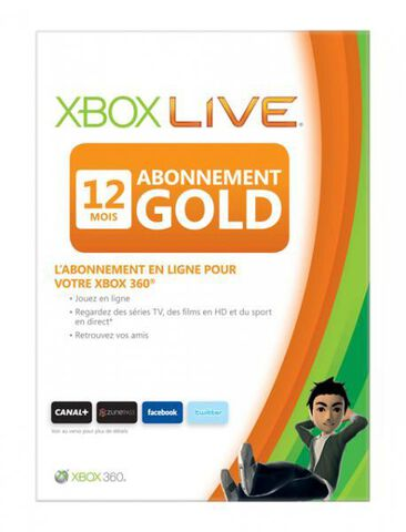 Carte Xbox Live 12 Mois / Ope Console