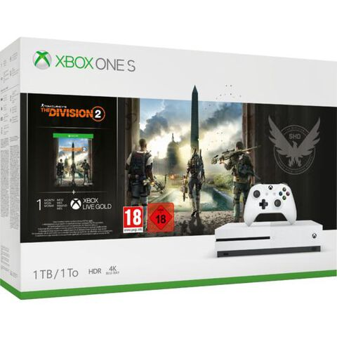 Pack Xbox One S 1to Blanche + Tom Clancy's The Division 2