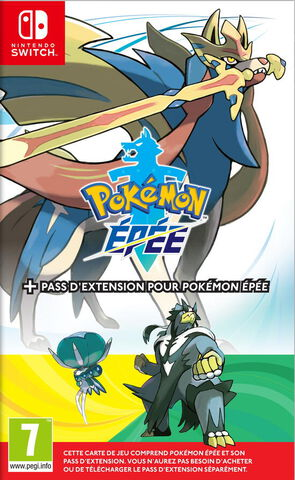Pokémon Édition Épée + Pass d'extension Pokémon Épée