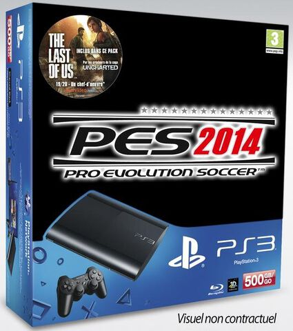 Pack Ps3 500 Go Noire + Pes 2014 + The Last Of Us Inclus