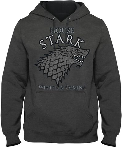 Sweat Homme  - Game of Thrones  - House Stark - Anthracite - Taille M
