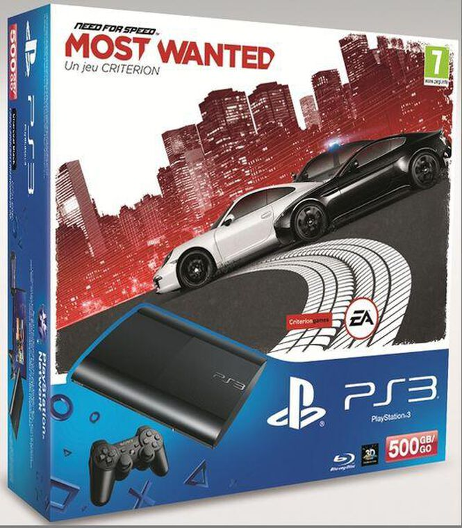 Pack Ps3 500 Go + Need For Speed : Most Wanted