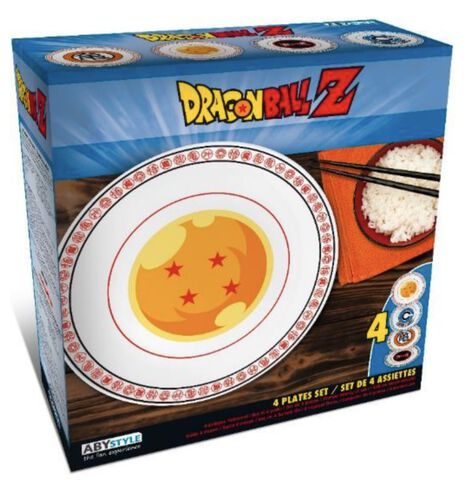 Assiettes - Dragon Ball Z - Set De 4 Assiettes Emblèmes