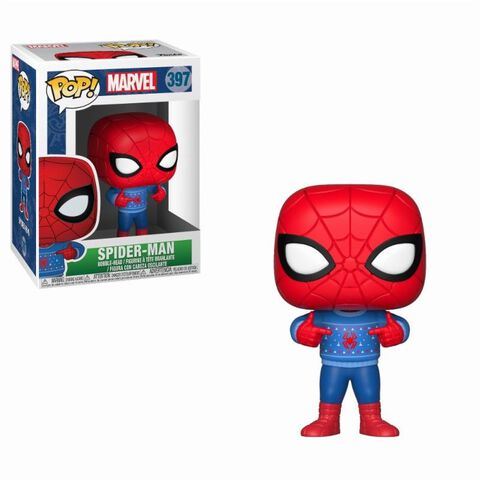 Figurine Funko Pop! N°397 - Marvel - Holiday Spider-Man avec pull moche
