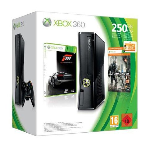 Pack Xbox 360 250 Go + Forza Motorsport 3 + Crysis 2