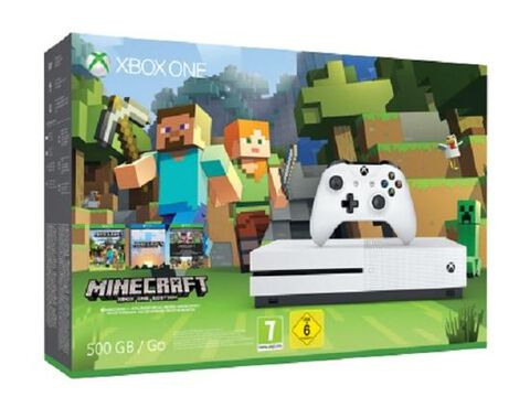 Pack Xbox One S 500go Blanche + Minecraft