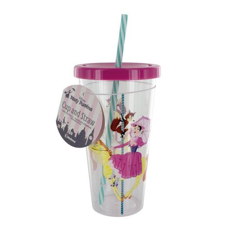 Verre avec paille - Mary Poppins - Personnages