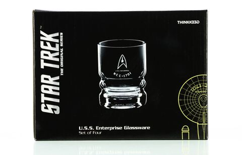 Verre - Star Trek - Set de 4 verres U.S.S. Enterprise