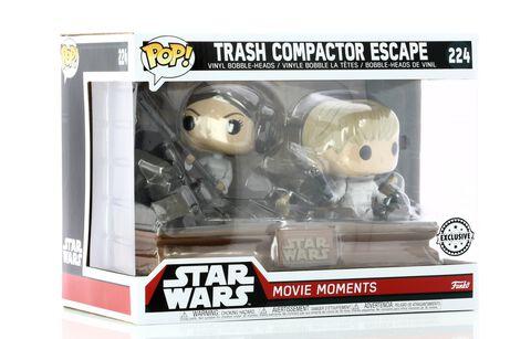 Figurine Funko Pop! N°224 - Star Wars - Luke & Leia Trash Compactor Twin Pack Ltd