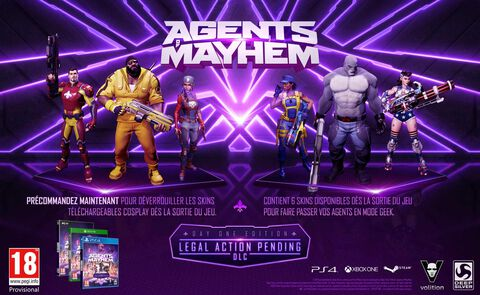 Agents of Mayhem Steelbook Edition - Exclusivité Micromania