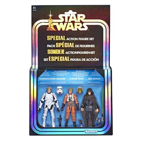 Figurine - Star Wars - Pack 3 Figurines Luke Skywalker 9,5cm