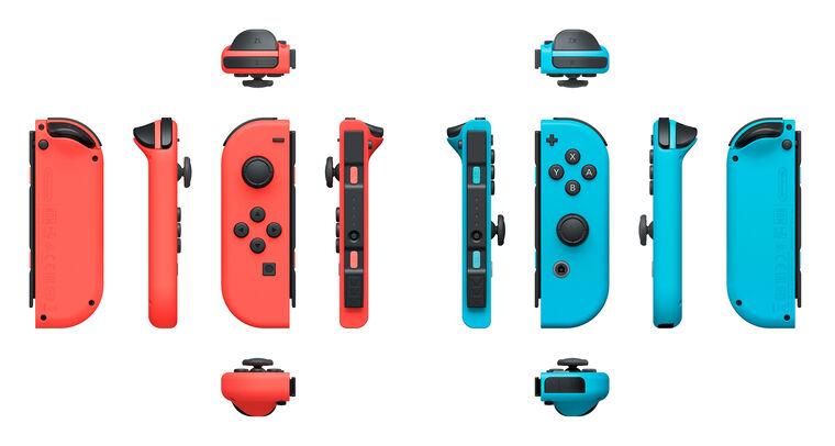 Paire de manettes Joy-Con bleu néon (droite) & rouge néon (gauche)