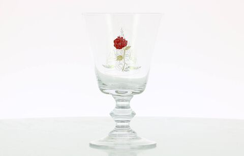 Verre à pied - La Belle et La Bête - Rose sous cloche 275 ml