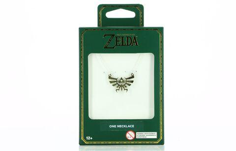Collier - Zelda - Logo Hyrule doré et argenté