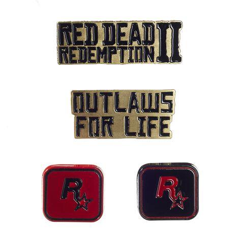 Set de badges - Red Dead Redemption - Set de 4