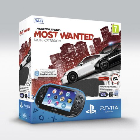 Pack PS Vita Wi-Fi + Need For Speed : Most Wanted Voucher + Carte Mémoire 4 Go