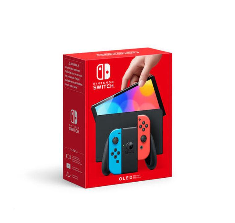 NINTENDO SWITCH (modèle OLED) avec Joy-con bleu néon/rouge néon