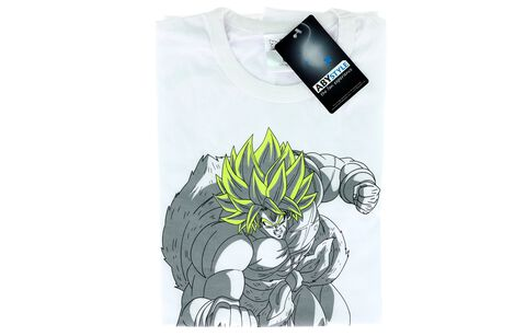 T-shirt - Dragon Ball Super : Broly - Broly Blanc - Taille L - Exclusivité Micromania-Zing