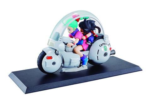 Figurine - Dragon Ball - Megahouse Pvc Diorama Goku Et Bulma 14 Cm