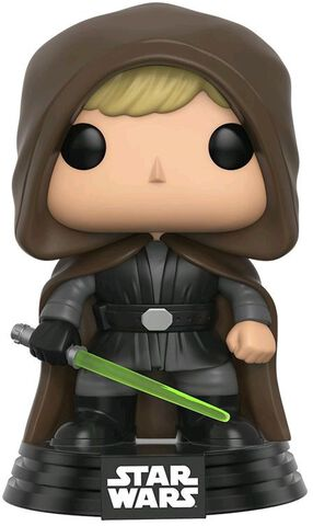 Figurine Funko Pop! N°126 - Star Wars - Hooded Jedi Luke - Exclusivité Micromania-Zing