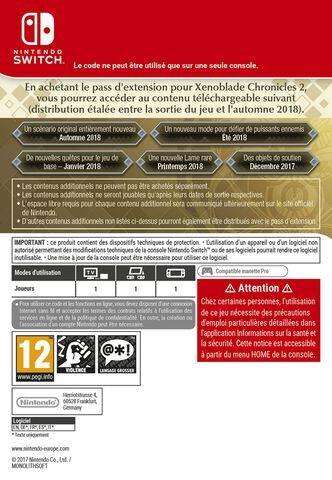 Xenoblade Chronicles 2 - Expansion Pass - Version digitale