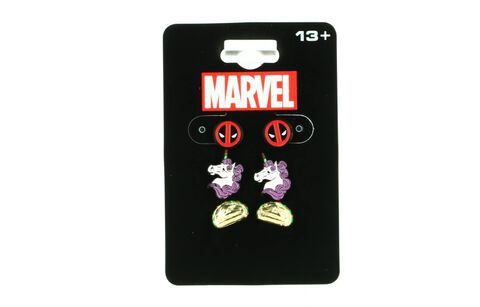 Boucles d'oreilles - Marvel - Deadpool - Pack de 3 paires