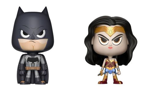 Figurine Vynl - DC Comics - Twin Pack Wonder Woman et Batman
