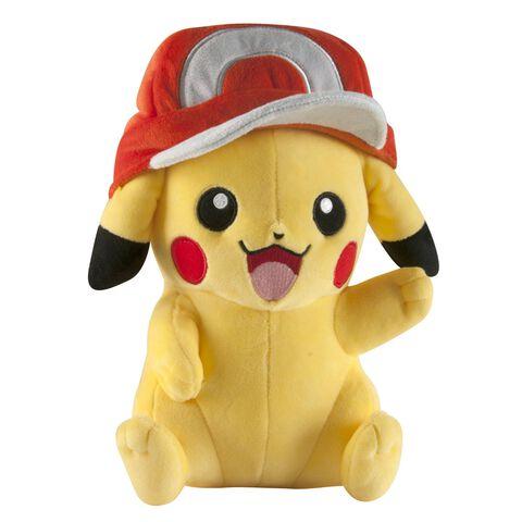 Peluche - Pokémon - Pikachu avec la casquette de Sacha - 25 cm