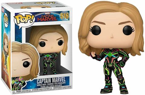 Figurine Funko Pop! N°516 - Marvel - Captain Marvel Avec Costume Neon