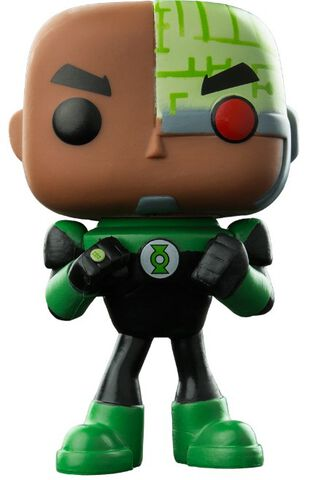 Figurine Funko Pop! N°338 - Teen Titans Go ! - Cyborg As Green Lantern