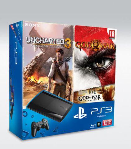 Pack Ps3 Noire 12 Go + : Uncharted 3 + God Of War III + Voucher Gow 4