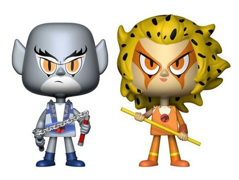 Figurine Vynl - Thundercats - Twin Pack Panthro / Cheetara