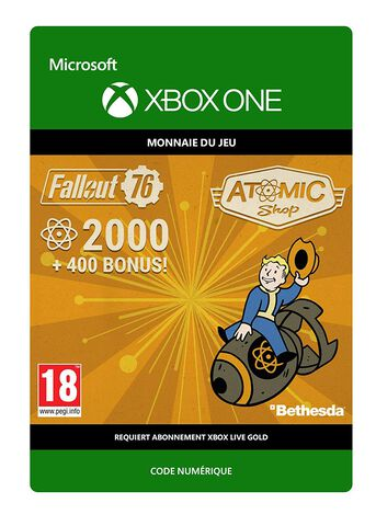 Fallout 76 - DLC - 2000 Atomes + 400 Atomes Bonus - Version digitale