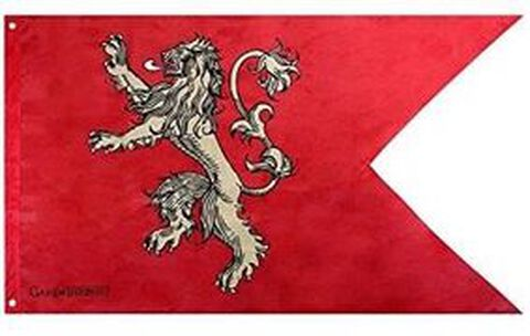Drapeau - Game Of Thrones - Lannister
