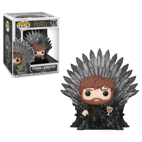 Figurine Funko Pop! N°71 - Game of Thrones S10 - Tyrion assis sur le trône