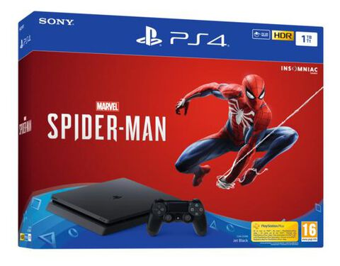 Pack Ps4 Slim 1to Noire + Marvel's Spider-man