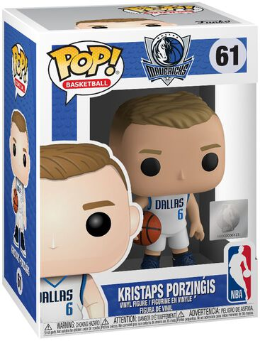 Figurine Funko Pop! N°61 - NBA : Dallas Mavericks - Kristaps Prozingis