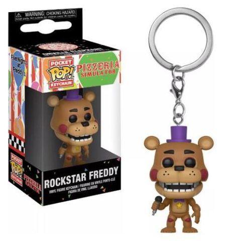 Porte-clés - Five Nights At Freddy's - Pizza Sim Pop Rockstar Freddy